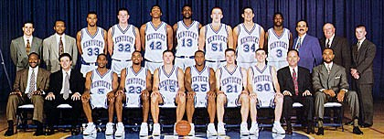 1996-1997 Kentucky Basketball Roster