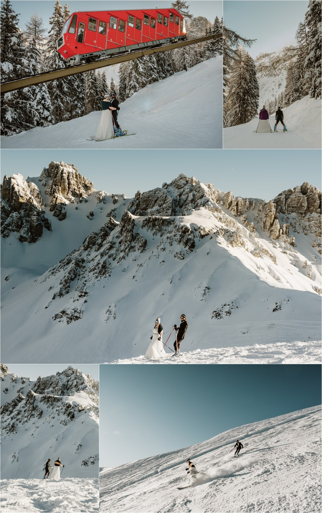 Skiing bride and groom Abby & Jeff had a ski wedding in the Austrian Alps by Wild Connections Photography