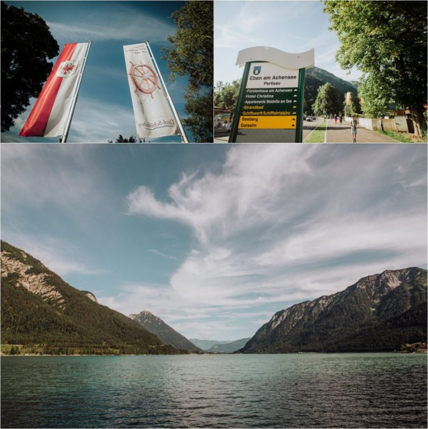 A landscape picture of Lake Achensee in Austria