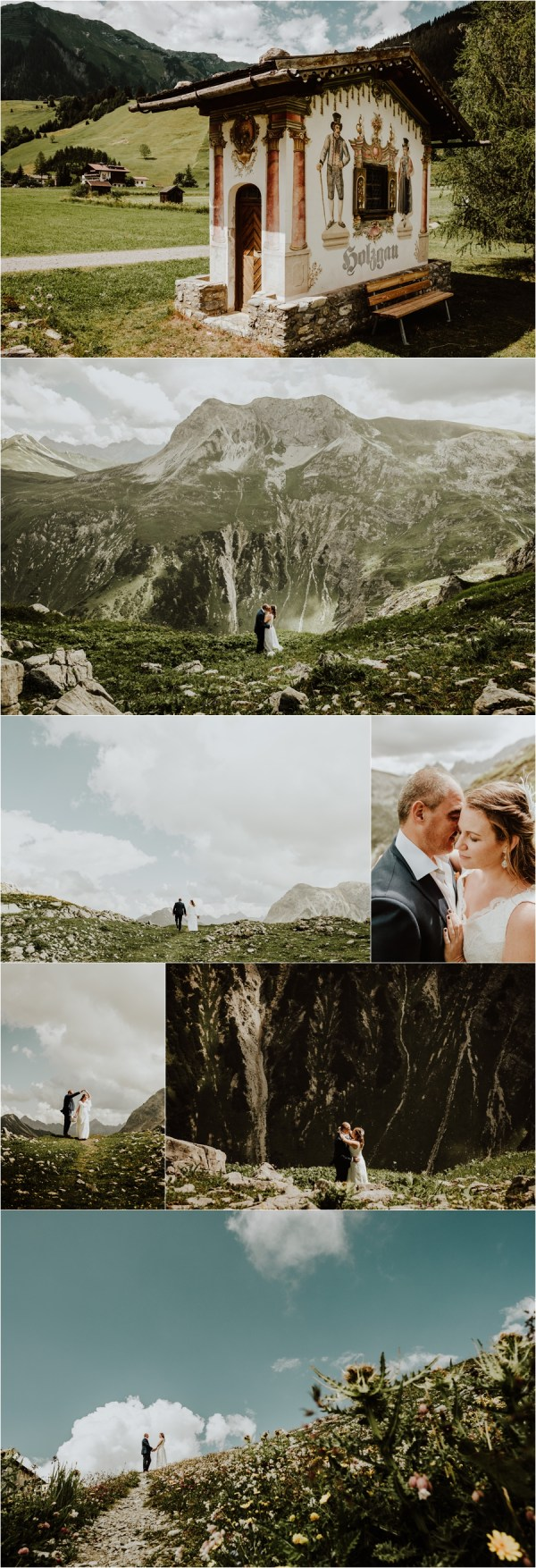 After wedding shoot in the Lech mountains in Austria by Wild Connections Photography