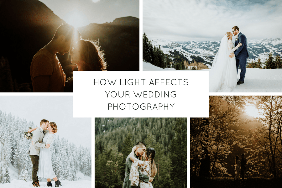 How Light Affects Your Wedding Photos By Wild Connections Photography blog post header graphic