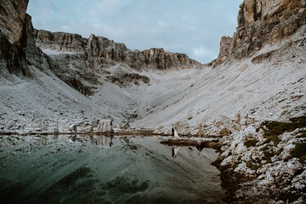 Dolomites hiking elopement in the Italian Alps. Photography by Wild Connections Photography