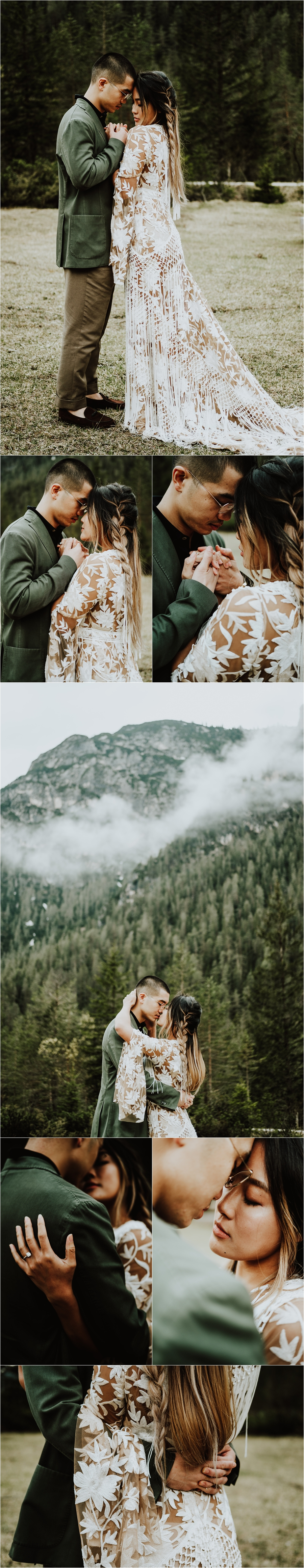 Moody mountains in the Dolomites for this adventure pre-wedding shoot by Wild Connections Photography