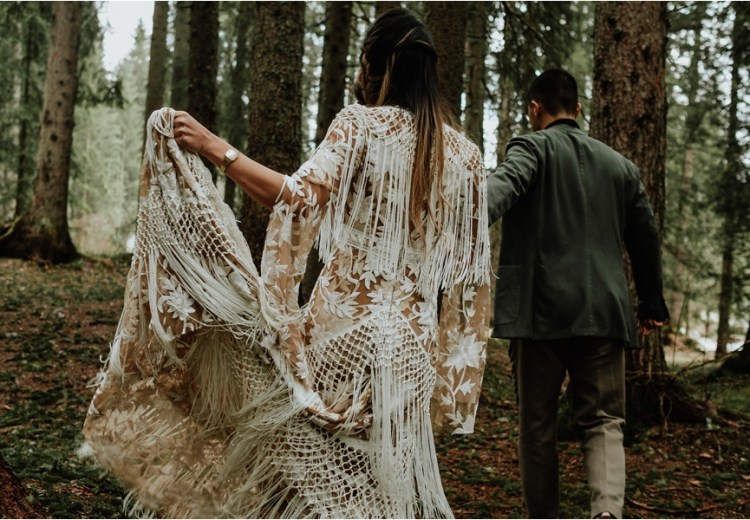 Rue de seine bohemian wedding dress - image by wild connections photography