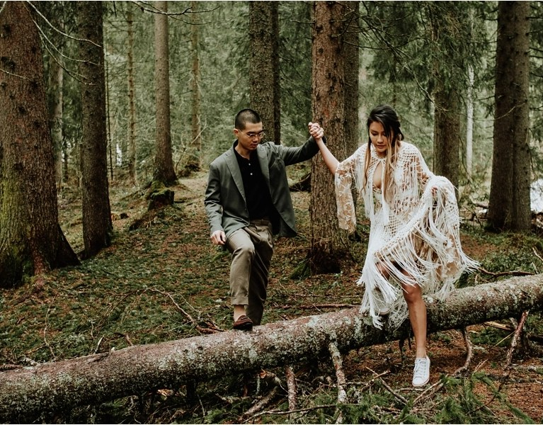 Dolomites Adventure session pre-wedding shoot by Wild Connections Photography
