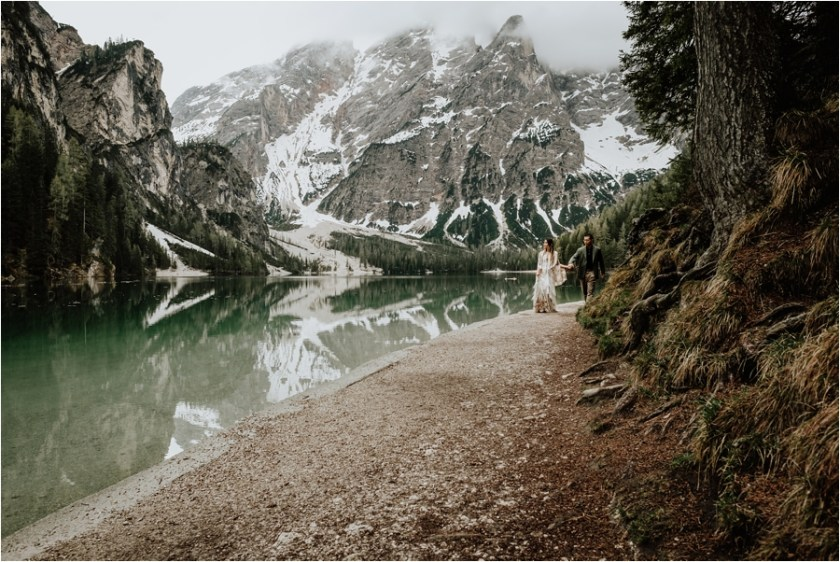 Dolomites pre-wedding engagement shoot by Wild Connections Photography