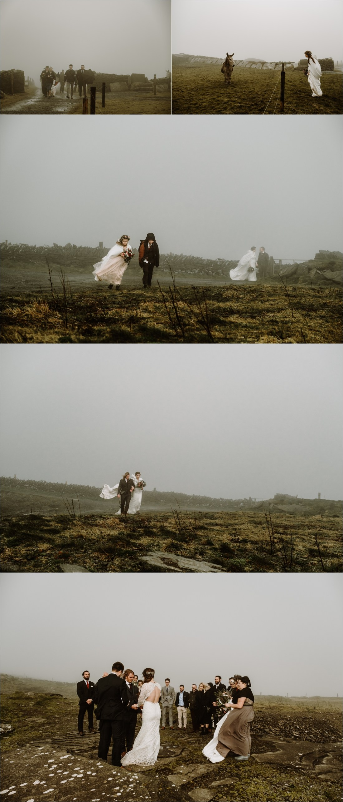 Elizabeth & Matthew arrive together for their elopement ceremony on the Cliffs of Moher in Ireland. Photos by Europe Elopement Photographer Wild Connections Photography