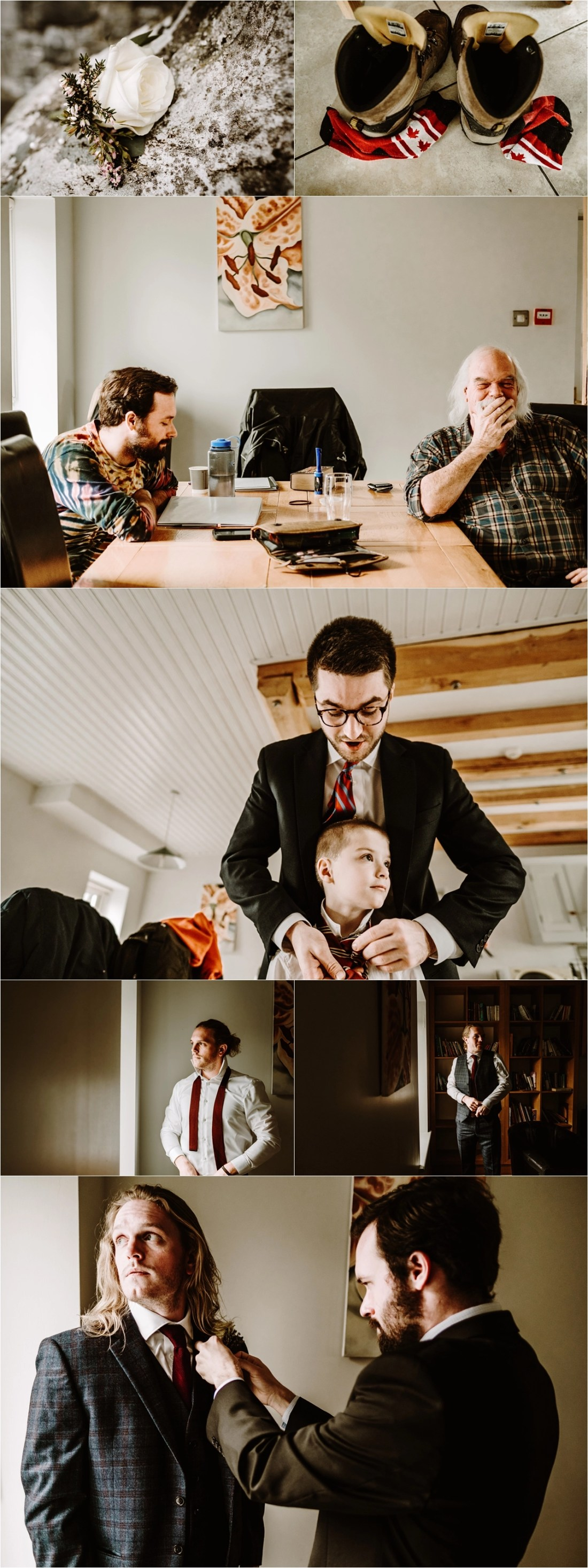 Groom prep at Doolin Lodge in Ireland. Photos by Europe Elopement Photographer Wild Connections Photography
