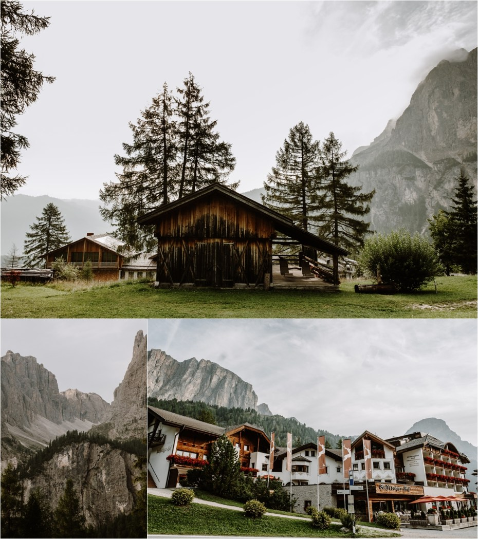 Hotel Kolfuschgerhof in the Dolomite Mountains in Italy. Photo by Wild Connections Photography