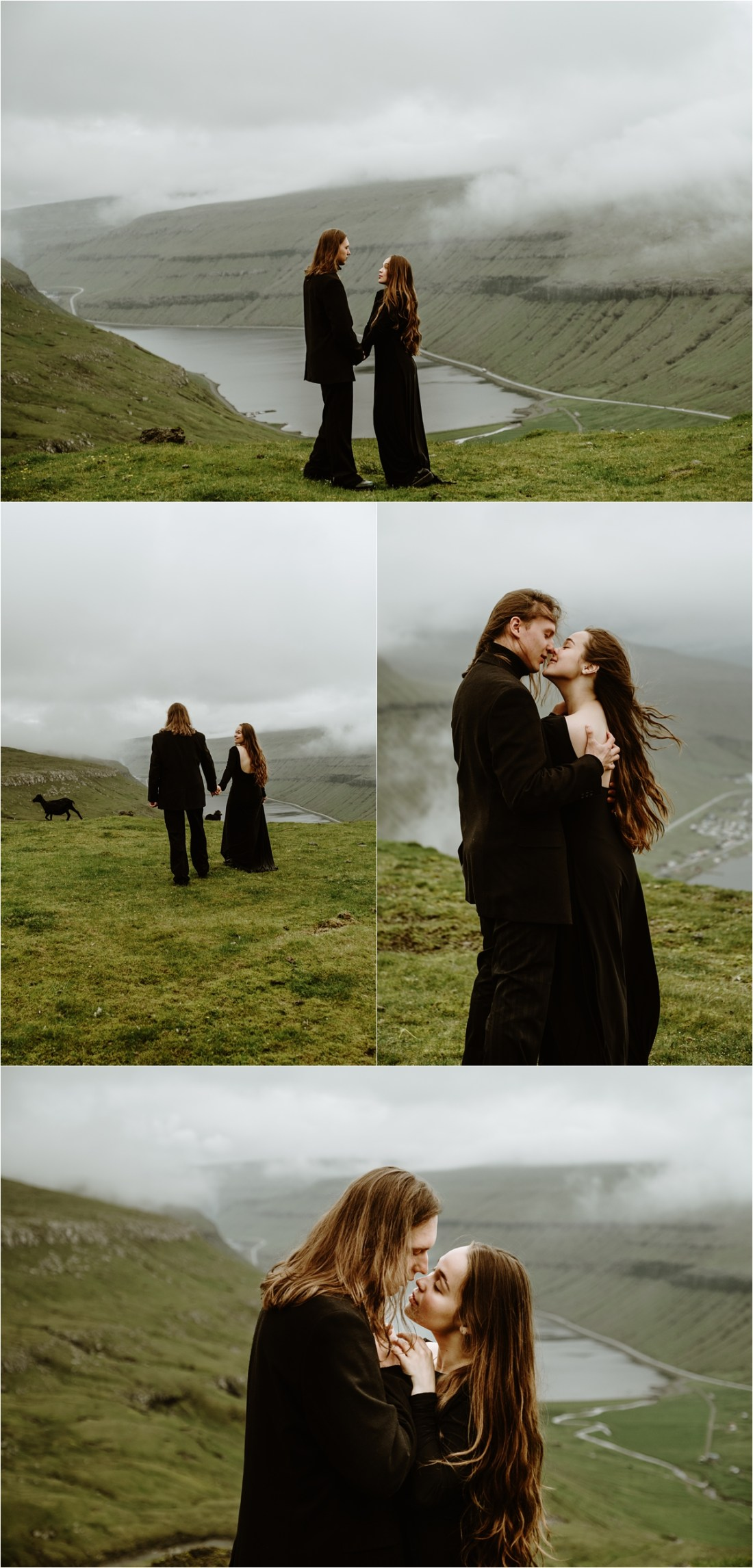 An elopement styled couple shoot in the Faroe Islands by Wild Connections Photography