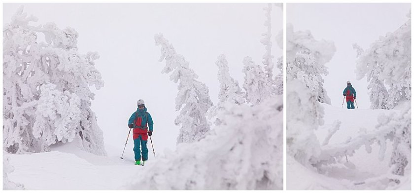 Menno Skiing through frozen trees in Levi in Finnish Lapland by Wild Connections Photography