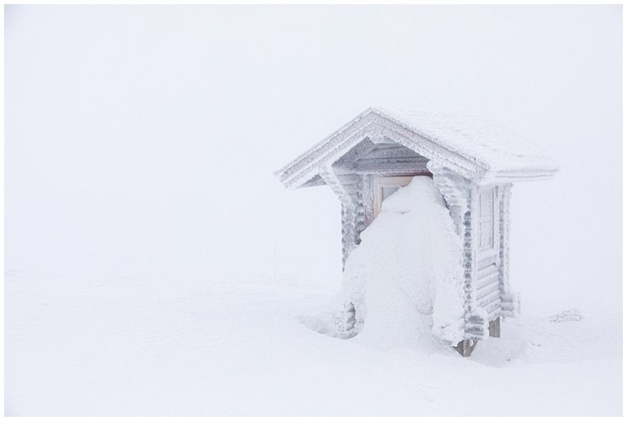 A frozen public toilet on Levi fell in Levi Lapland by Wild Connections Photography