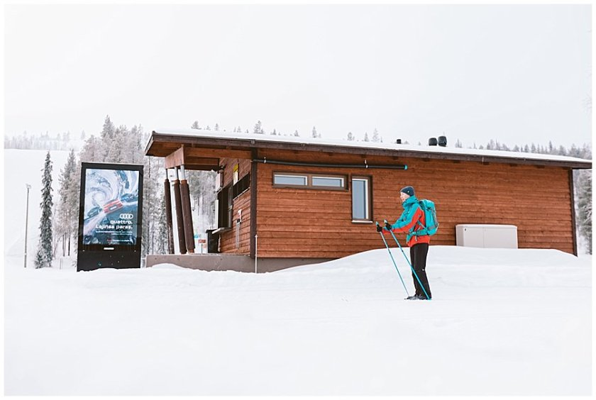 Menno Tries Cross Country Skiing in Levi Lapland
