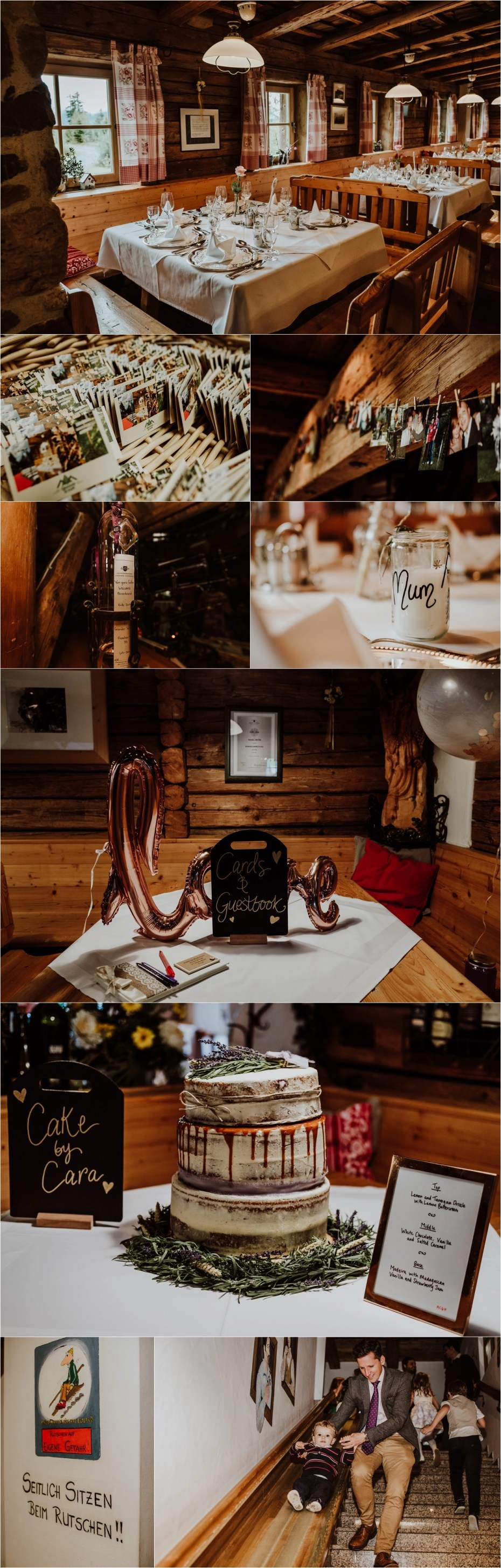 A wedding reception at Berggasthaus Grander Schupf in Austria by Wild Connections Photography