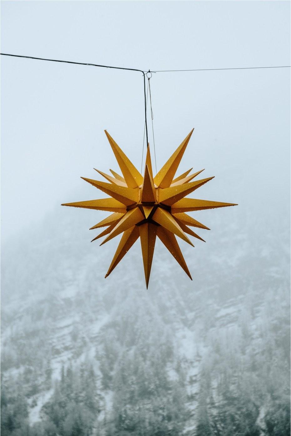 Christmas lanterns in Hallstatt Austria. Photos by Wild Connections Photography