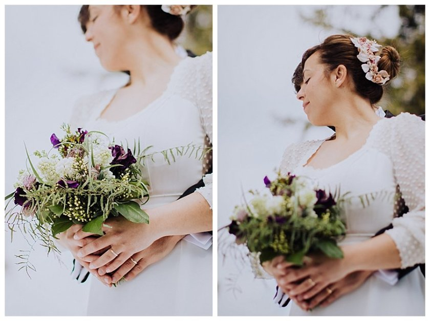 Picture of the bridal bouquet by Blumen Tau in Igls Austria
