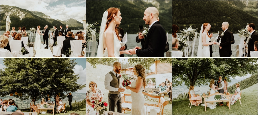 Outdoor wedding ceremonies in variable light by Wild Connections Photography