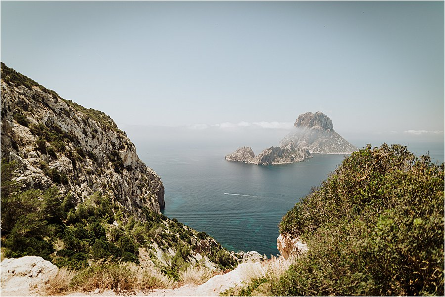Rock formations of the coast of Ibiza