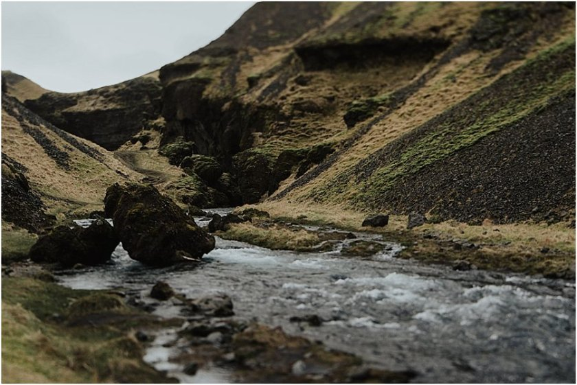 A mountain stream in Iceland