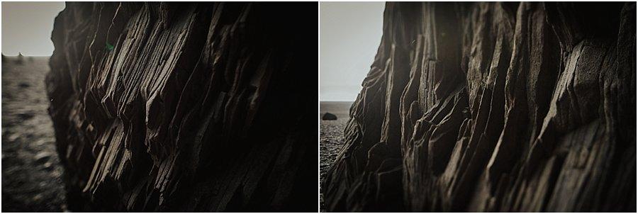 Basalt rock details