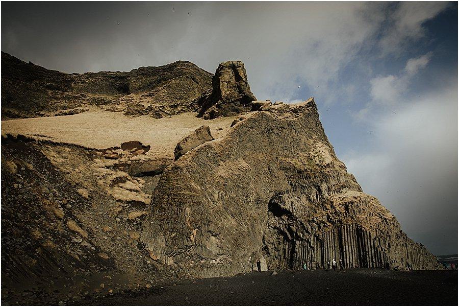 Cave on the black beach