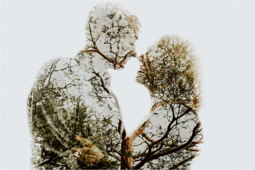 A double exposure silhouette of Peter & Ines by Wild Connections Photography