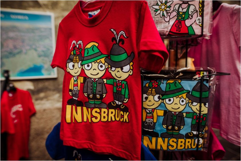 Innsbruck souvenir t-shirt in the city centre by Wild Connections Photography