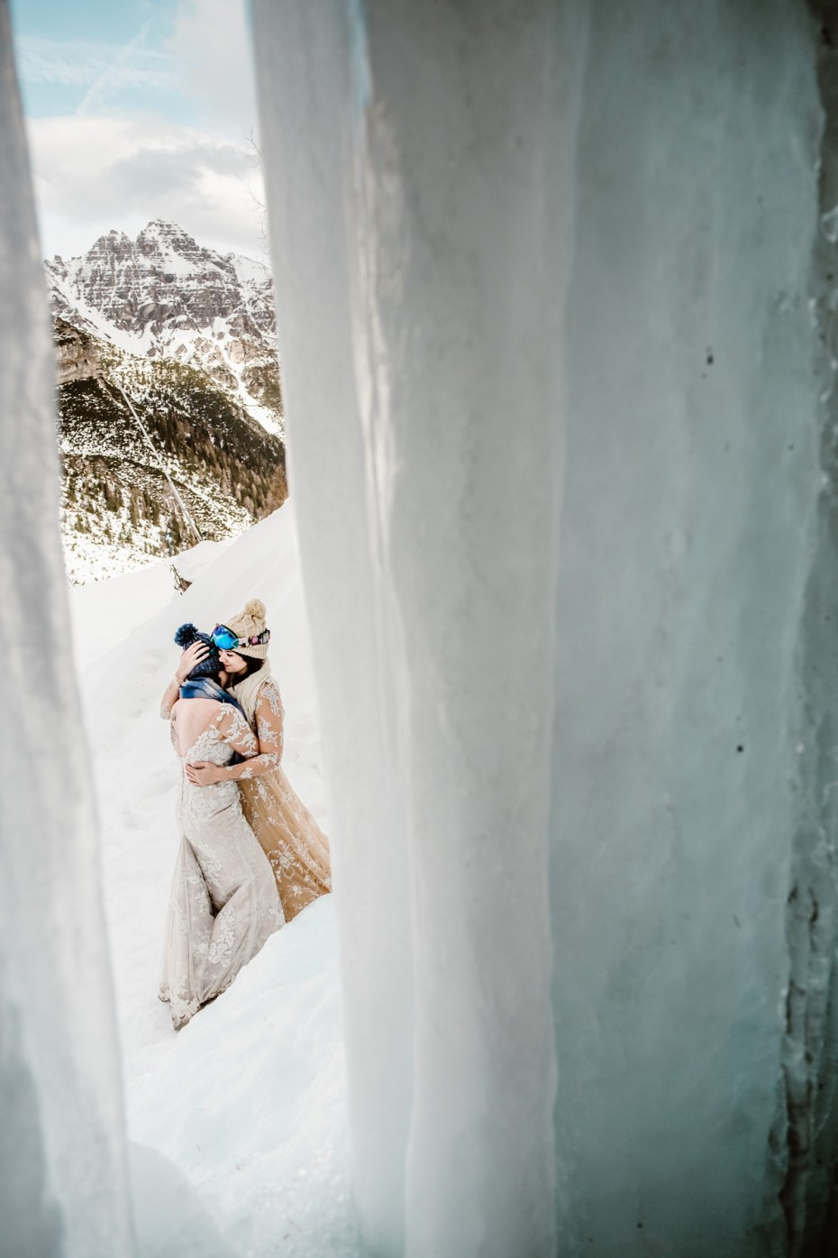 Same sex winter wedding in Austria by Wild Connections Photography