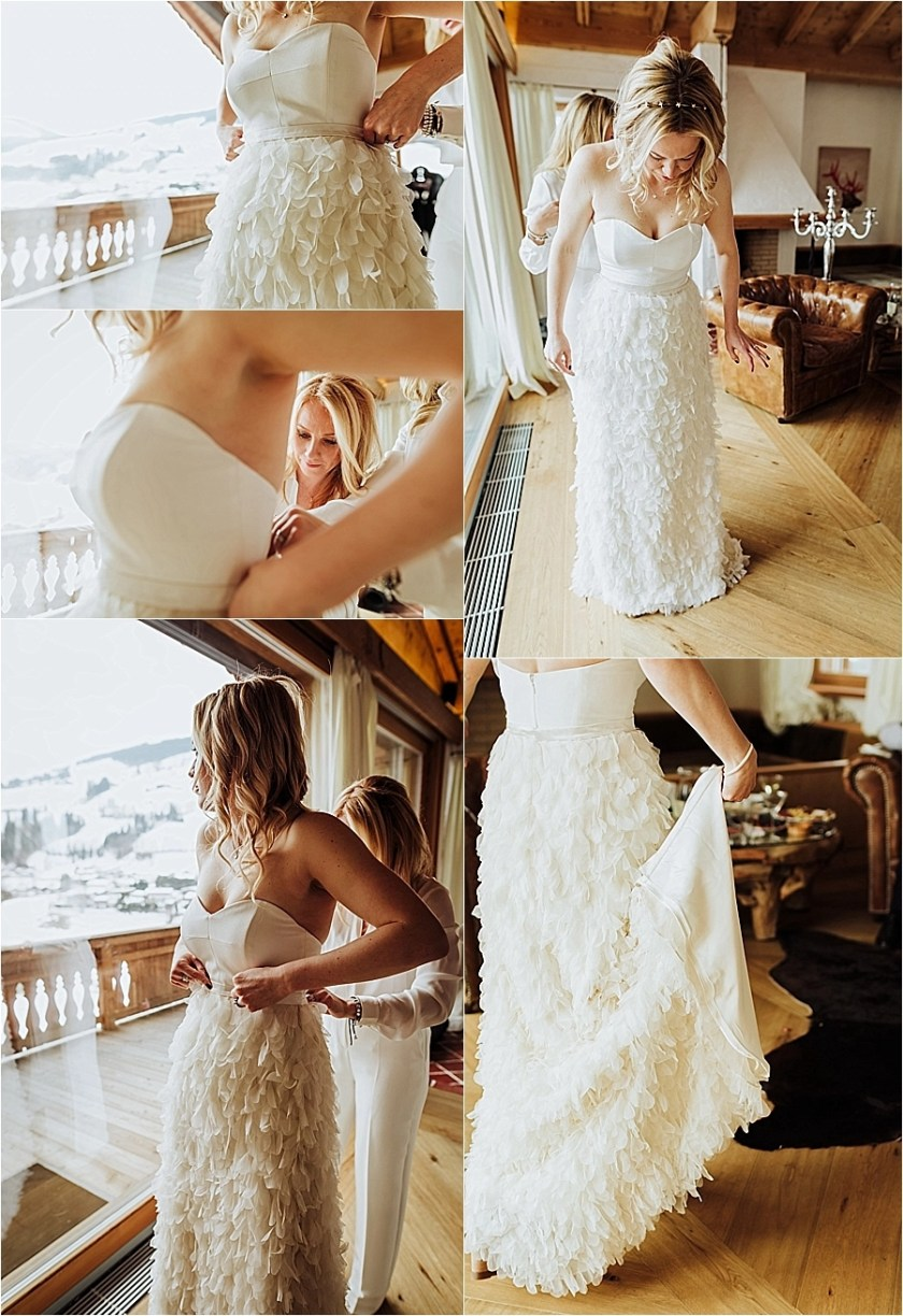 Beautiful ruffles on Katja's Halfpenny London wedding dress by Wild Connections Photography