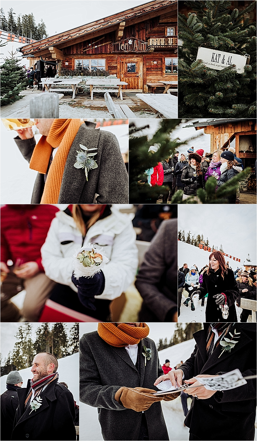 Guests take their seats for a mountain wedding ceremony at the Toni Alm near Kitzbühel in Austria by Wild Connections Photography