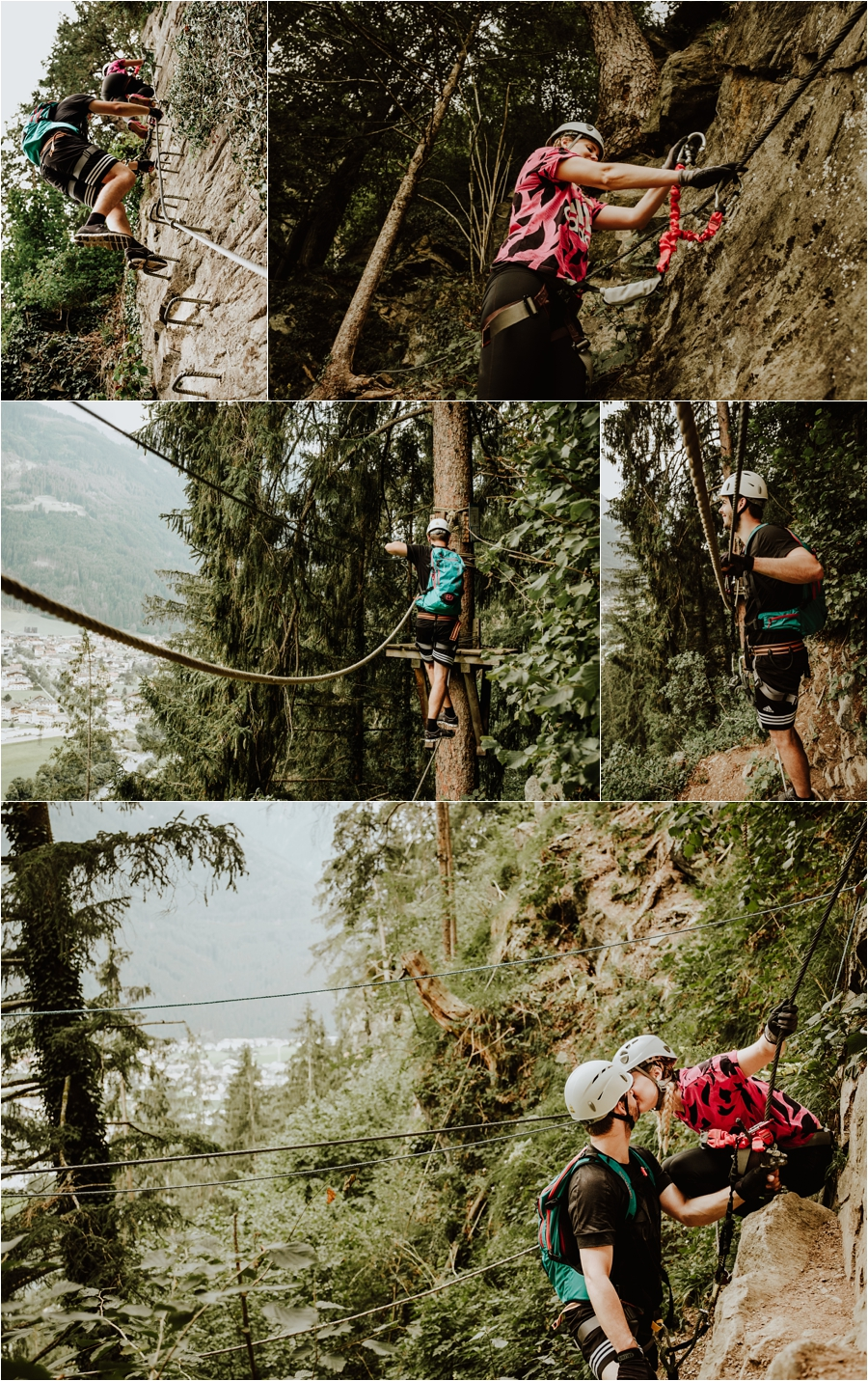 Mayrhofen engagement shoot on a via ferrata climb by Wild Connections Photography