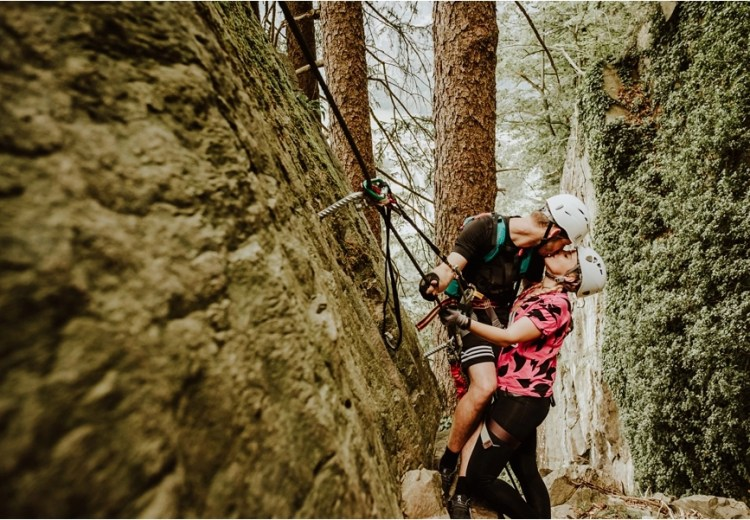 via ferrata adventure session - a climbing couple shoot in Mayrhofen Austria by Wild Connections Photography