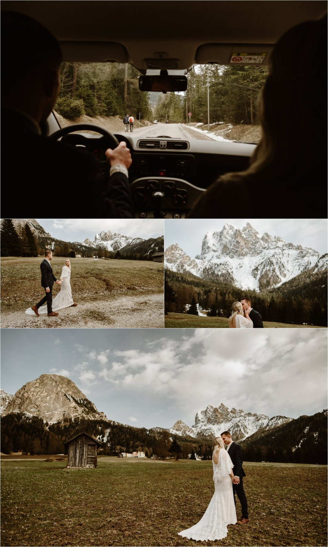 Erika & Nathan explore the mountain meadows of the Italian Dolomites. Photos by Wild Connections Photography - Alps & Dolomites Elopement Photographer
