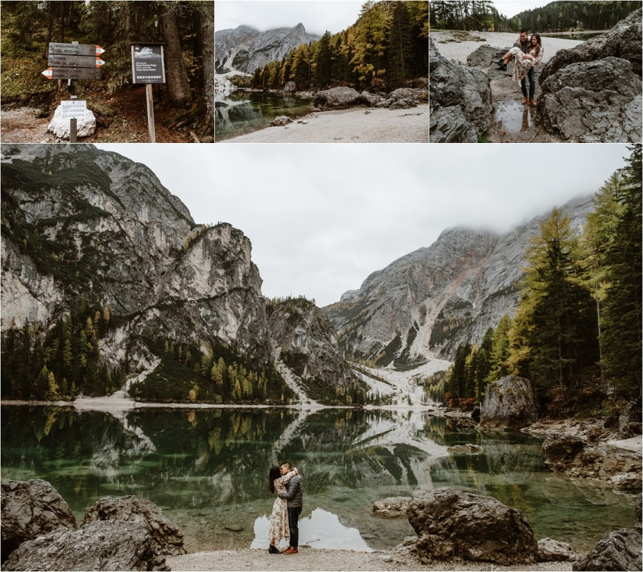 Fall engagement photos in the Dolomites. Photos by Wild Connections Photography.