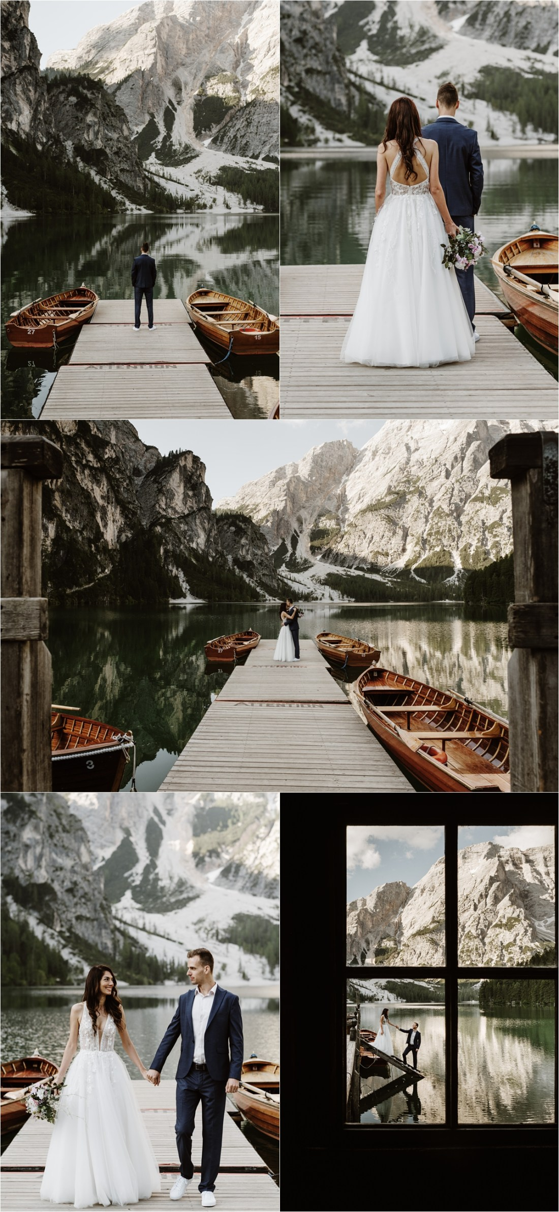 A first look at the boathouse on Lago di Braies. Photography by Wild Connections Photography