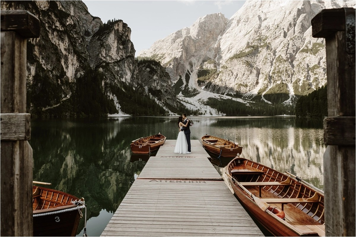 An elopement at Lago di Braies in the Dolomites by Wild Connections Photography