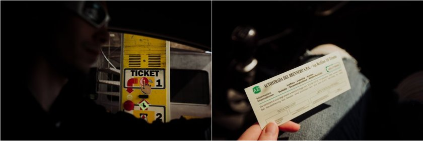 Picture of a Autostrada Italy Ticket