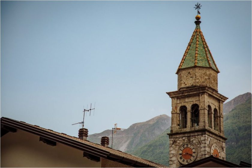 Italian church spire photo
