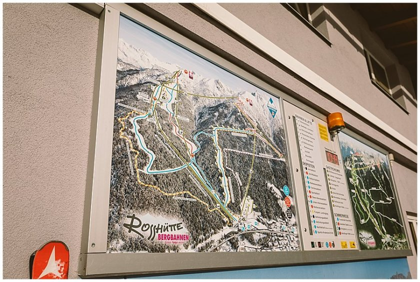 Piste plan for the Rosshütte ski area in Seefeld by Wild Connections Photography