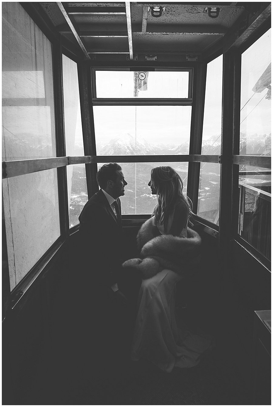 Steph and Lee share a quiet moment alone in the cable car