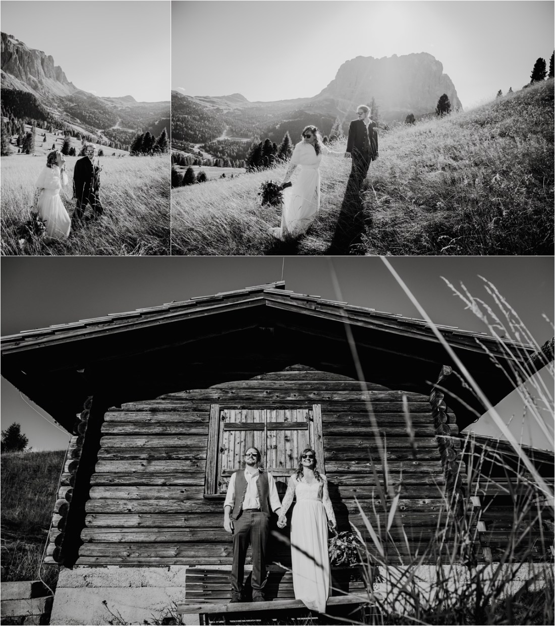 An alternative elopement in the Dolomites in Autumn. Photos by Wild Connections Photography