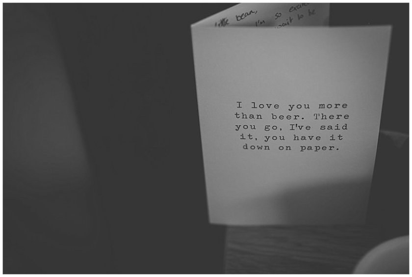 I love you more than beer card