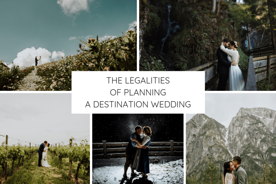 The legalities of planning a destination wedding graphic