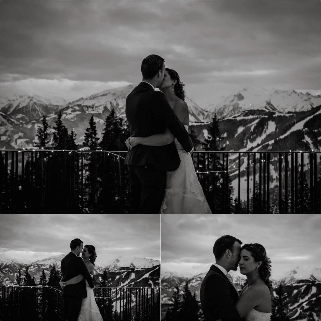Bride & groom pictures after dark at the Schmiedhof Alm in Austria by Wild Connections Photography