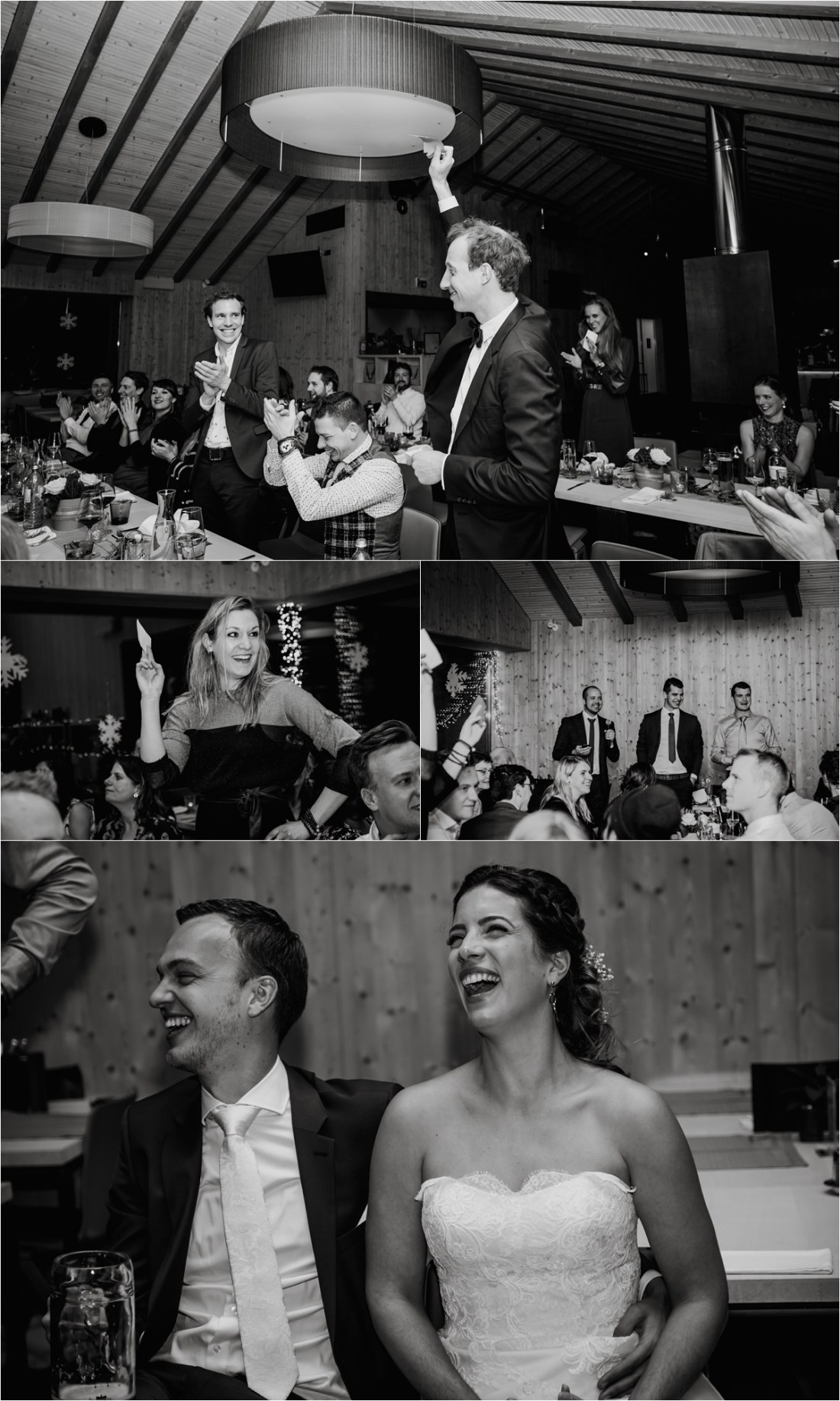 Games during the wedding breakfast at the Schmiedhofalm by Wild Connections Photography