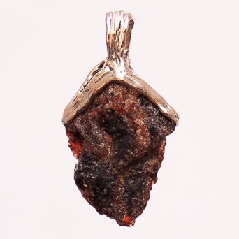 9K Gold Red Garnet Pendant