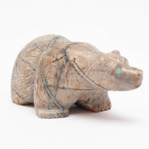 Farlan Quam Zuni Brown Bear Animal Carving
