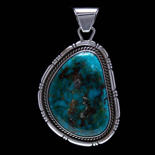 Jerry Platero Navajo Turquoise Pendant