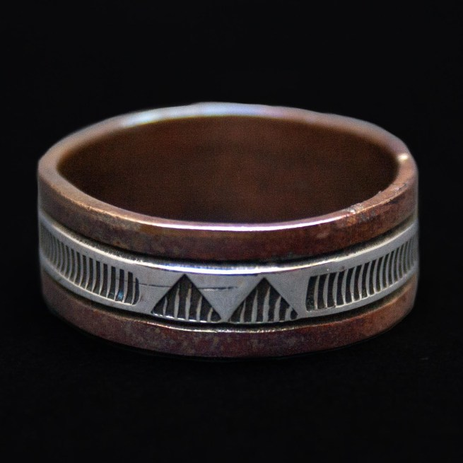 Wylie Secatero Silver Copper Ring
