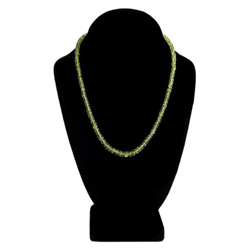 18K Gold Peridot Necklace